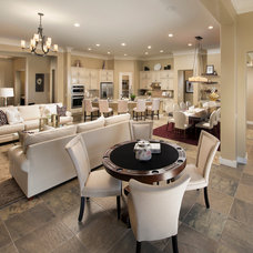 Transitional Living Room by Meritage Homes