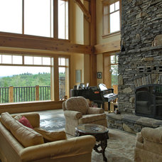 Traditional Living Room by Hamill Creek Timber Homes
