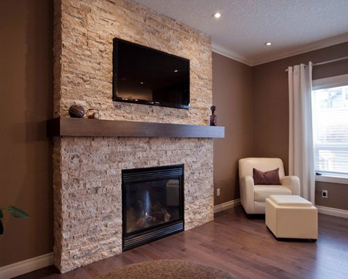Split Face Travertine Fireplace Houzz