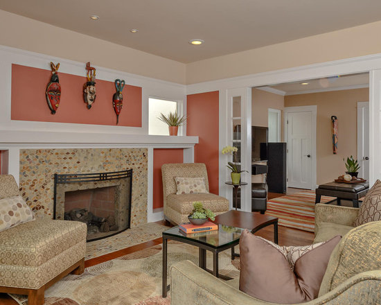 Salmon Colored Walls Houzz