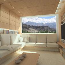 Modern Living Room by Specht Harpman Architects