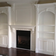 Traditional Living Room by Pinnacle Custom Cabinet Design