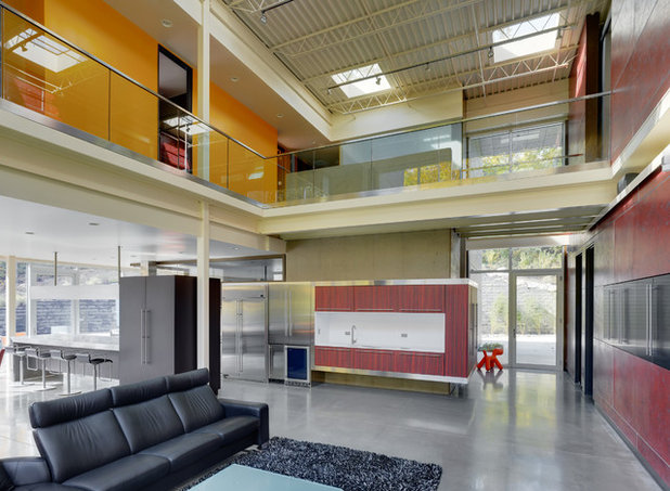 Industrial Living Room by Jose Garcia Design