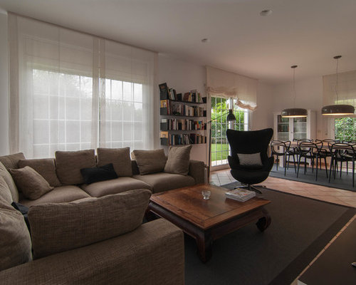Contemporary Living Room Design Ideas Renovations Photos With Terracot