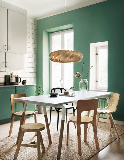 Contemporary Dining Room by Alcro