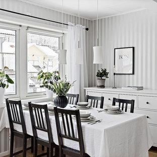 Inspiration för en nordisk matplats, med flerfärgade väggar