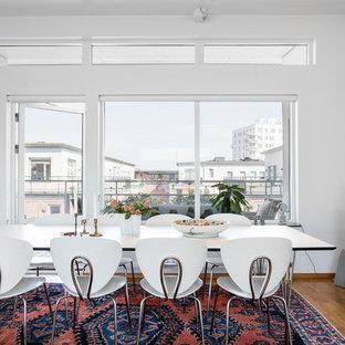 Idéer för mellanstora funkis separata matplatser, med vita väggar