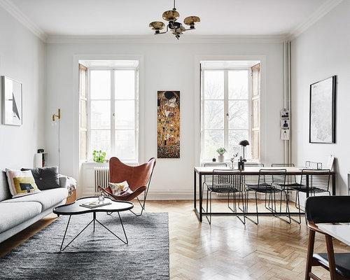 skandinavische wohnk chen mit hellem holzboden ideen. Black Bedroom Furniture Sets. Home Design Ideas