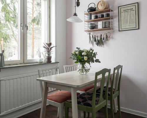 Skandinavische esszimmer mit rosa wandfarbe ideen design bilder houzz - Wandfarbe esszimmer ...