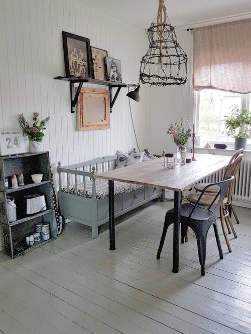 Ispirazione per una sala da pranzo shabby-chic style di medie ...