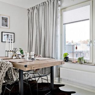 Idéer för en minimalistisk matplats, med grå väggar