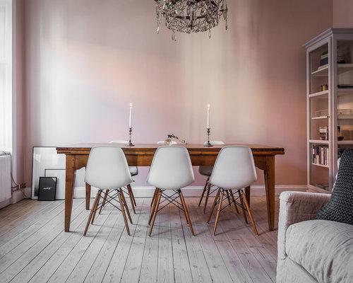 skandinavische esszimmer mit rosa wandfarbe ideen design bilder houzz. Black Bedroom Furniture Sets. Home Design Ideas