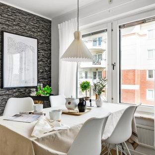 Exempel på en liten nordisk matplats, med svarta väggar