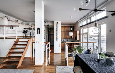 Stockholm Houzz Tour: Three-Level Loft With Harbour Views