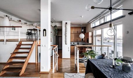 Stockholm Houzz Tour: Three-Level Loft With Harbour Views