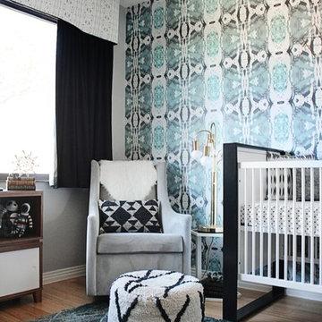 125-5 Blue Grey Wallpaper