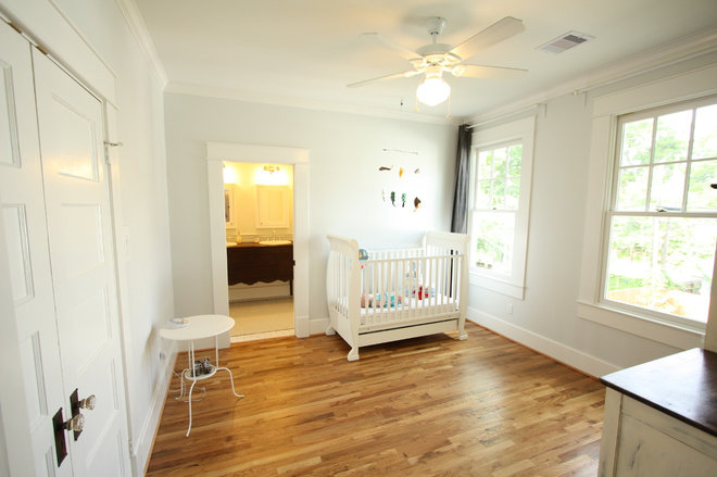 traditional nursery 1920 Craftsman Rehab in Houston Heights Historic District