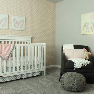 This is an example of a contemporary nursery in Seattle.