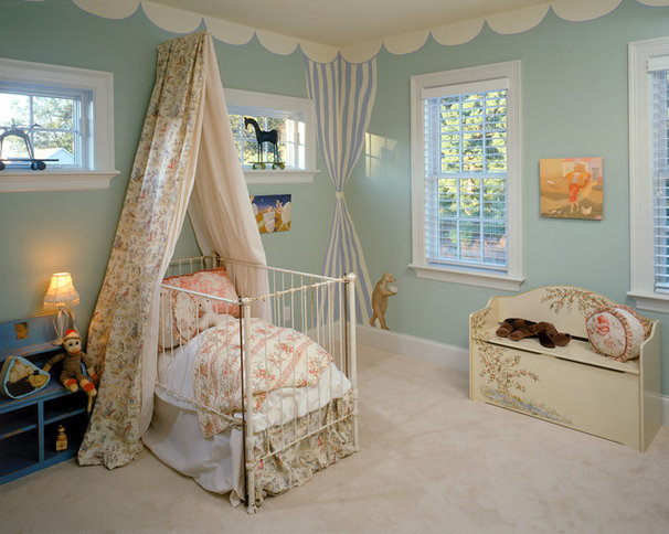 Traditional Nursery by Witt Construction