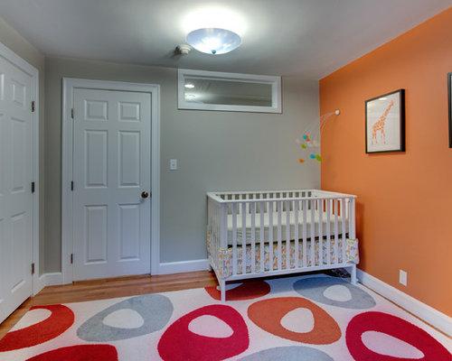 babyzimmer mit oranger wandfarbe ideen design bilder. Black Bedroom Furniture Sets. Home Design Ideas