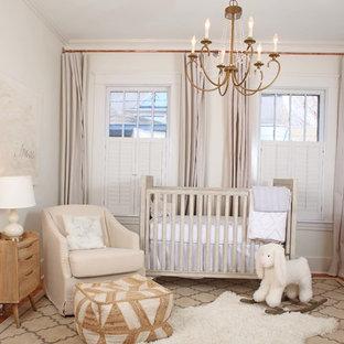 Modelo de habitación de bebé neutra bohemia de tamaño medio