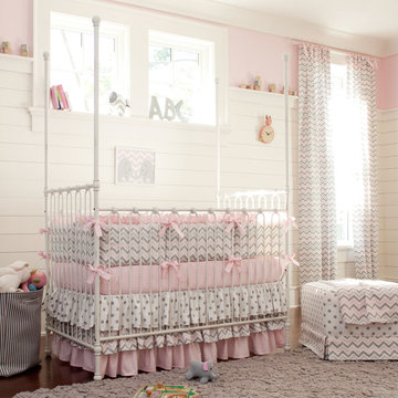 A Baby Girl's Nursery - Chevrons and Dots