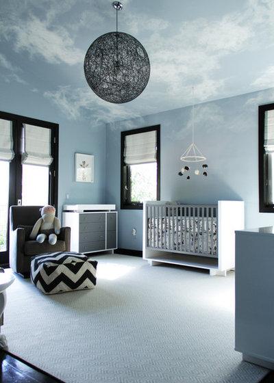Contemporary Nursery by Amy Sklar Design Inc