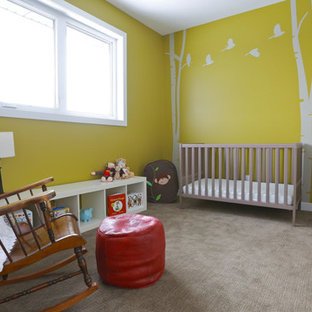 This is an example of a modern nursery in Other.