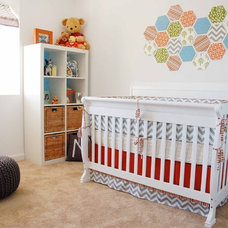 Contemporary Nursery by Jennifer Bishop Design