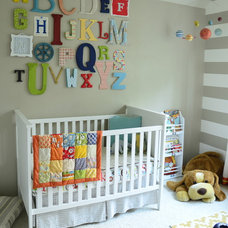 Transitional Nursery Alphabet Wall Art