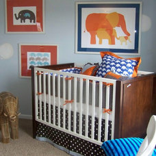Contemporary Nursery by Anita Roll Murals