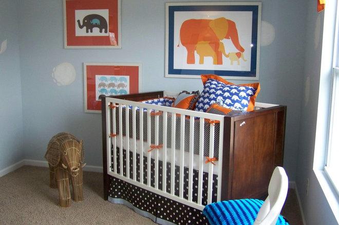 Contemporary Nursery by Anita Roll Murals