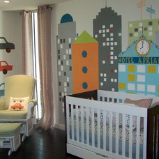 Modern Nursery by Anita Roll Murals