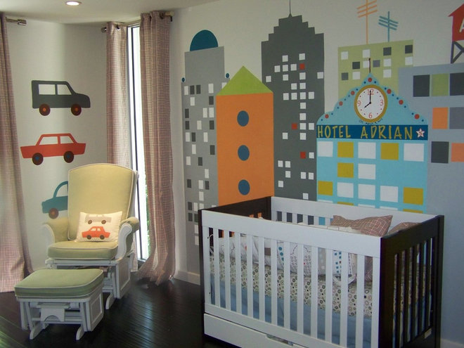 Modern Nursery by Anita Roll Murals