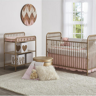 Design ideas for a traditional nursery in Detroit.
