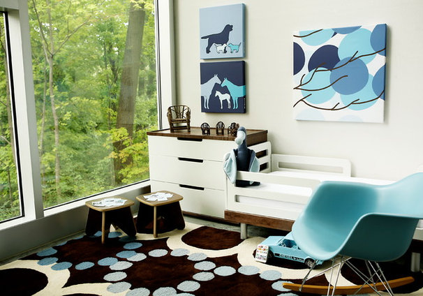 Contemporary Nursery by Avalisa Design