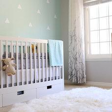 Transitional Nursery by Blythe Interiors