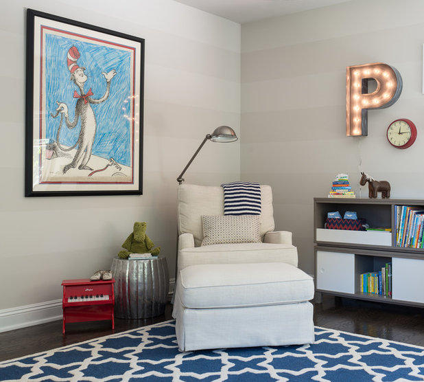 Contemporary Nursery by Cory Connor Designs. Room of the Day  The Cat in the Hat Inspires a Nursery Color Palette