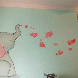 Idée de décoration pour une chambre de bébé asiatique.