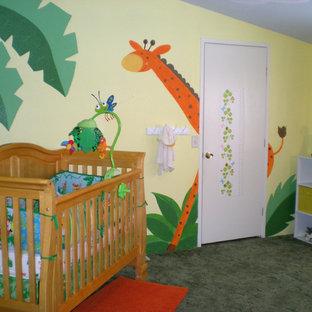 Exempel på ett stort exotiskt babyrum