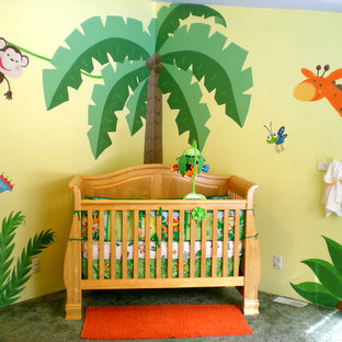 Design ideas for a large contemporary nursery in Seattle.