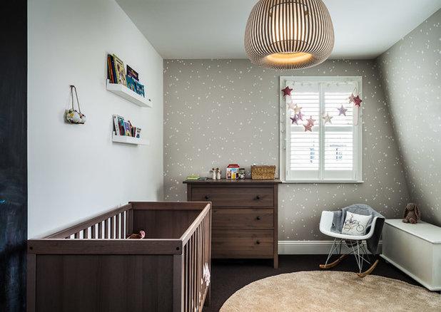 Contemporary Nursery by EMR Home Design
