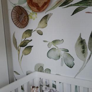 Réalisation d'une chambre de bébé vintage.