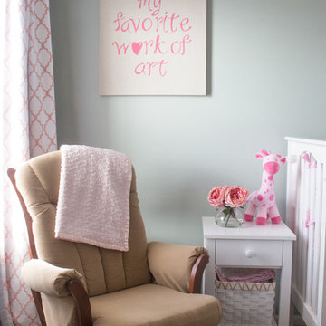 Baby Pink and Mint Green Girl's Nursery