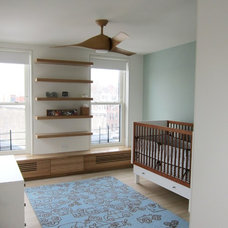 Contemporary Nursery by Neuhaus Design Architecture, P.C.