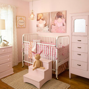 Design ideas for a classic nursery in San Diego.