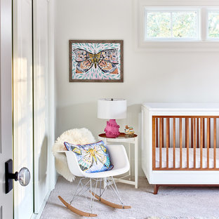 Inspiration for a 1960s nursery remodel in Charlotte