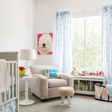 Contemporary Nursery by Ashley Eckel Interior Design