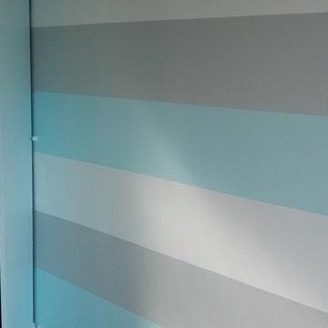 Blue Striped Wall