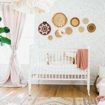 Bohemian Farmhouse Girl's Nursery